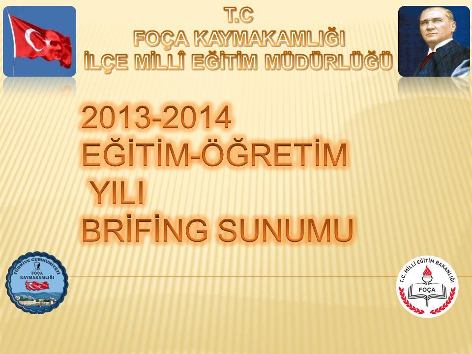 2013-2014 EĞİTİM-ÖĞRETİM YILI BRİFİNG SUNUMU
