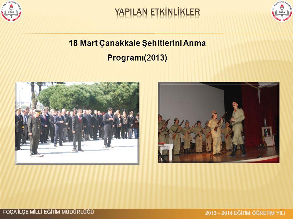 18 Mart Çanakkale Şehitlerini Anma Programı(2013)