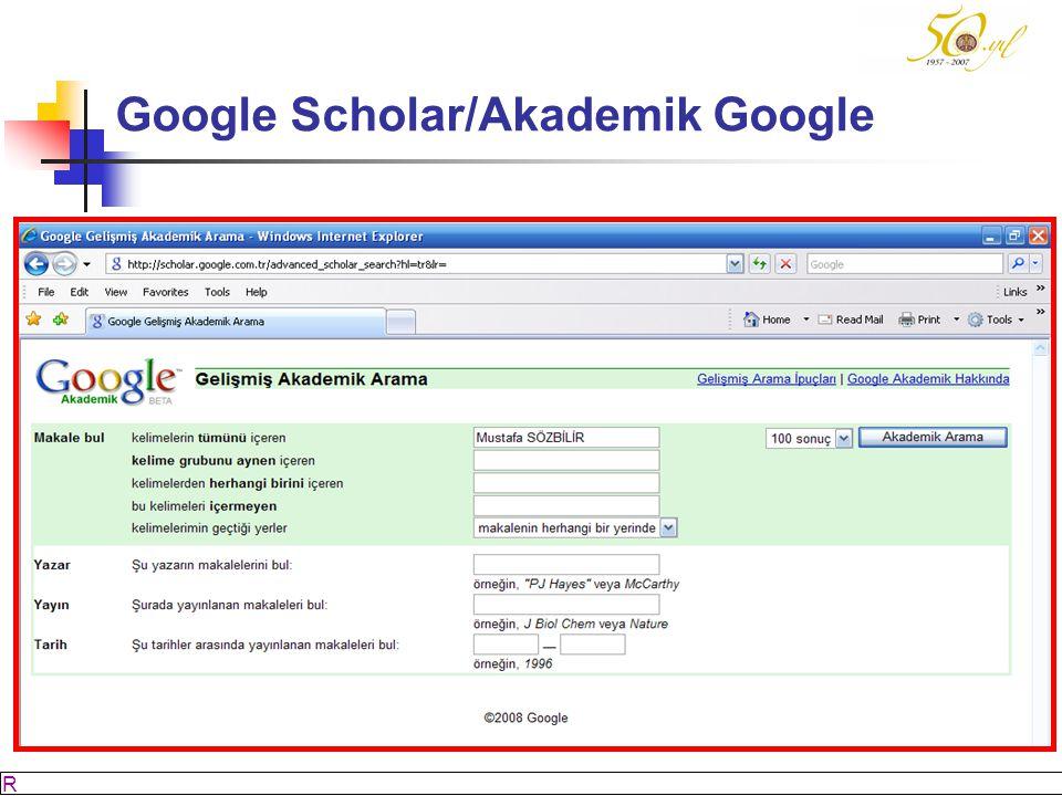 Google Scholar/Akademik Google