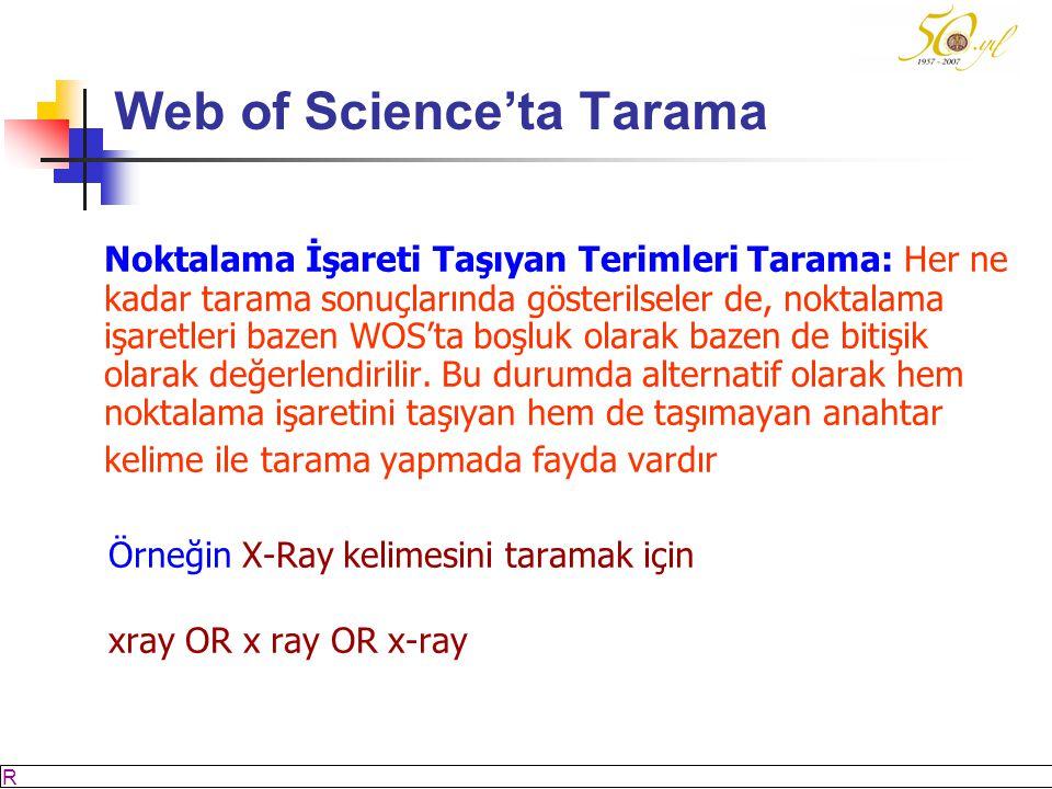 Web of Science'ta Tarama