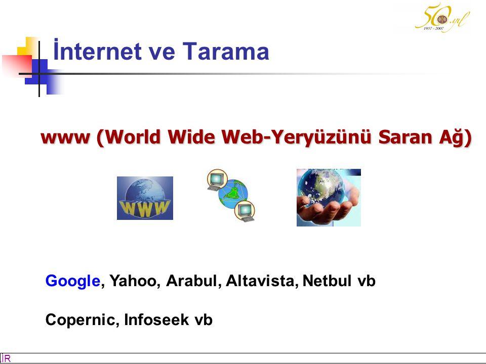 İnternet ve Tarama www (World Wide Web-Yeryüzünü Saran Ağ)