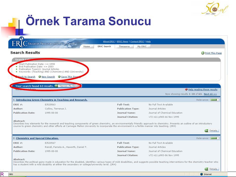 Örnek Tarama Sonucu