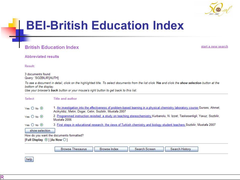 BEI-British Education Index