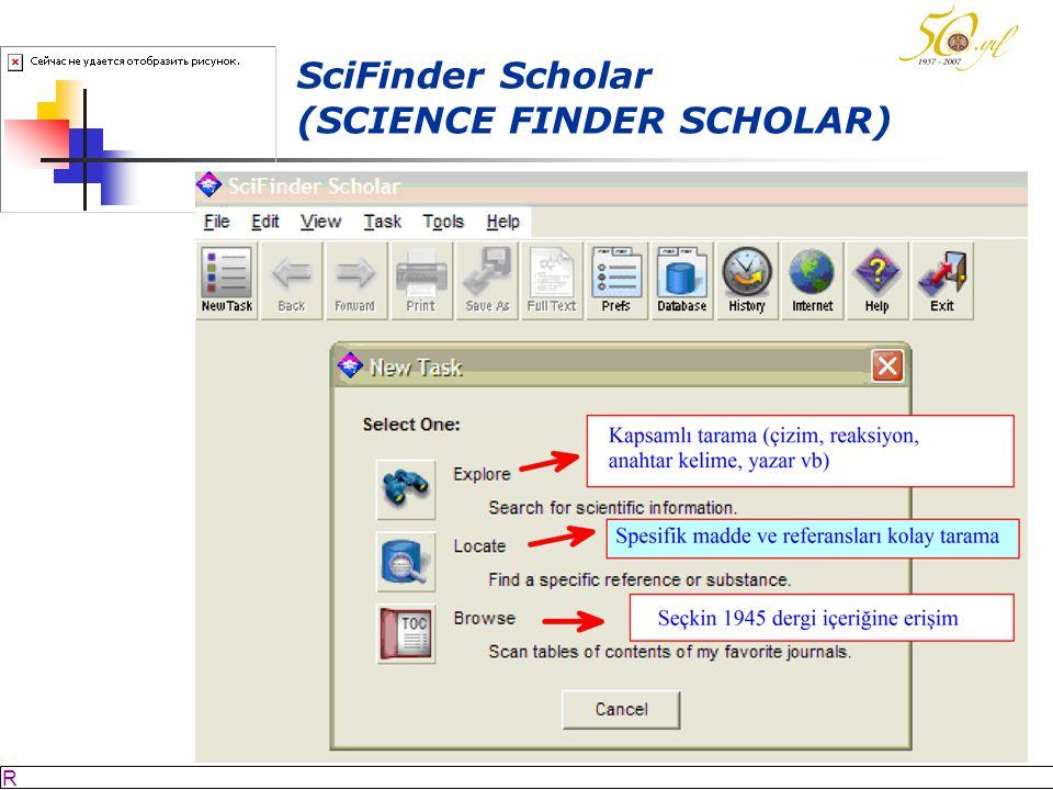 SciFinder Scholar (SCIENCE FINDER SCHOLAR)