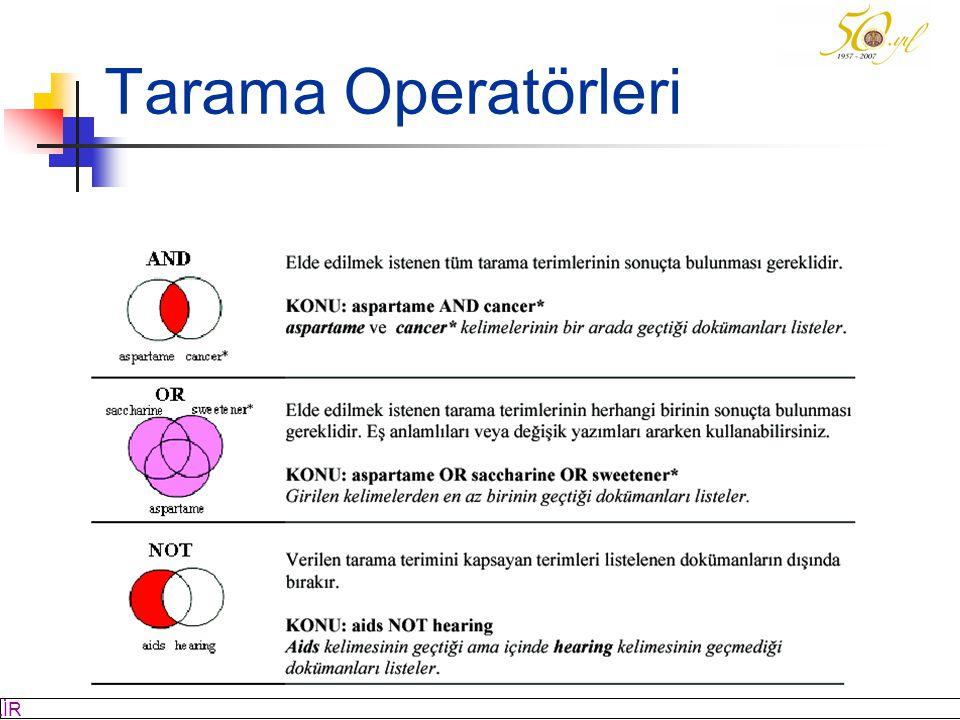 Tarama Operatörleri