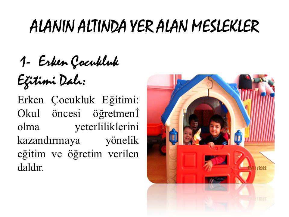ALANIN ALTINDA YER ALAN MESLEKLER