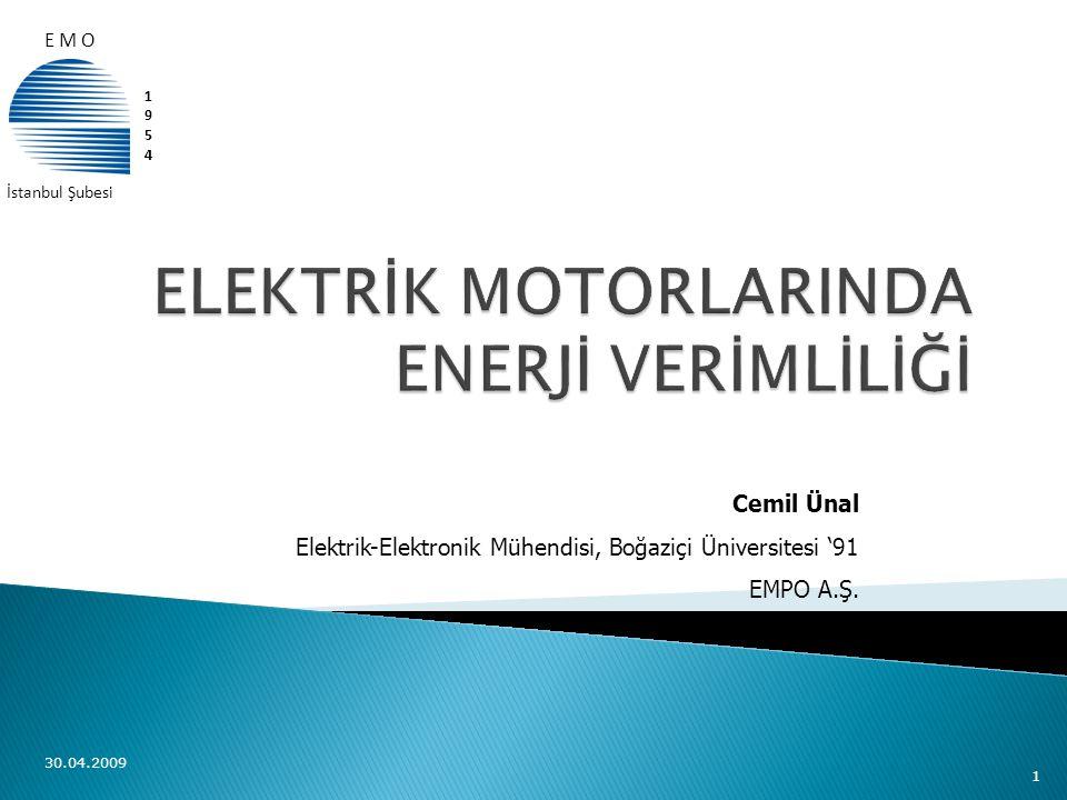 ELEKTRİK MOTORLARINDA ENERJİ VERİMLİLİĞİ