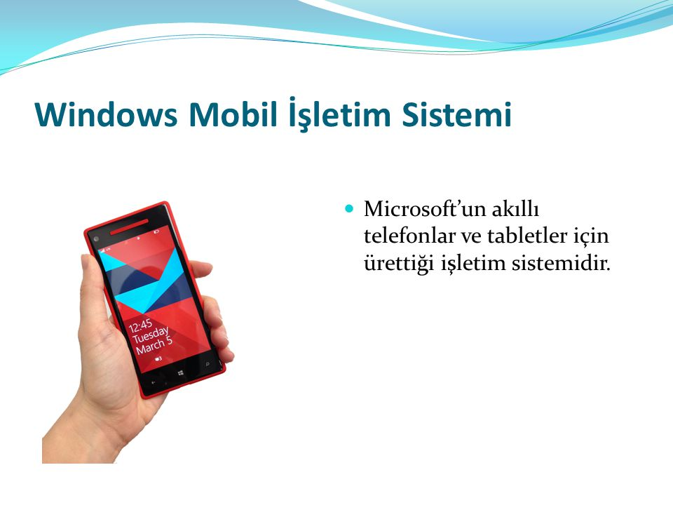 Windows Mobil İşletim Sistemi