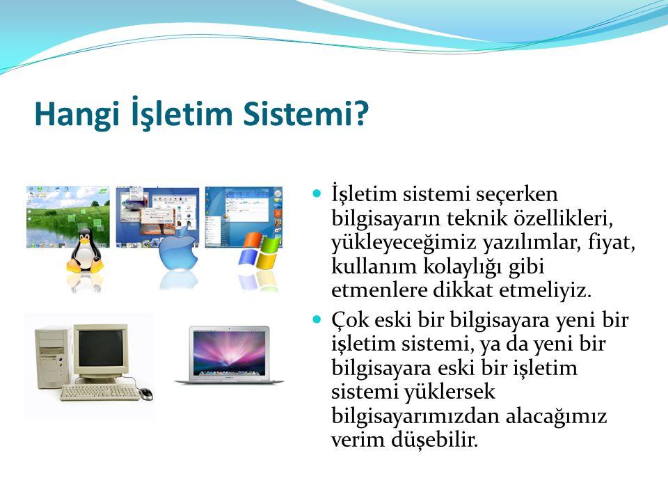 Hangi İşletim Sistemi