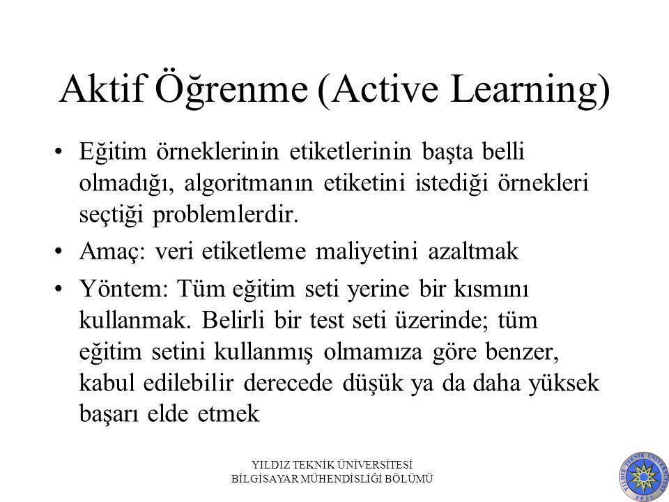 Aktif Öğrenme (Active Learning)