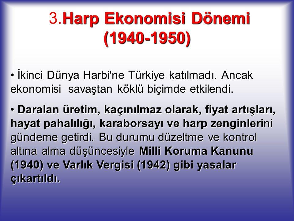 3.Harp Ekonomisi Dönemi (1940-1950)