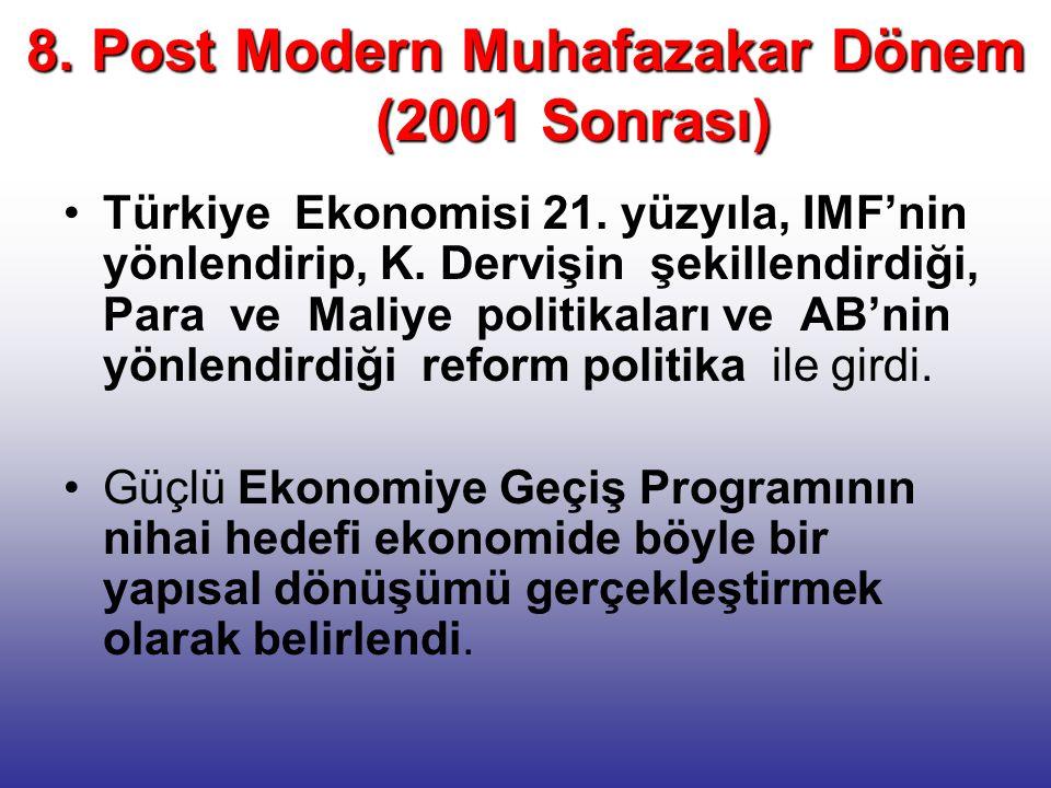 8. Post Modern Muhafazakar Dönem (2001 Sonrası)