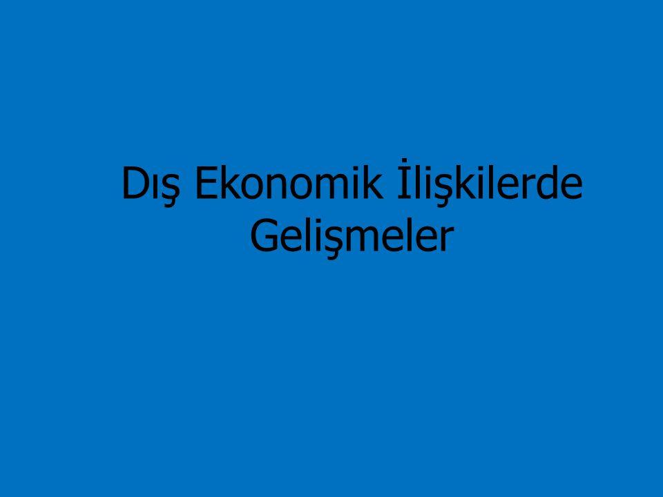 Dış Ekonomik İlişkilerde Gelişmeler