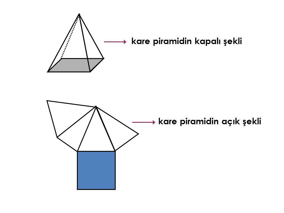 kare piramidin kapalı şekli