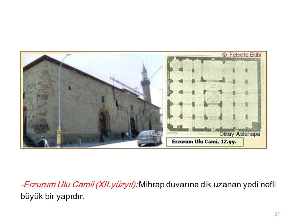 -Erzurum Ulu Camii (XII