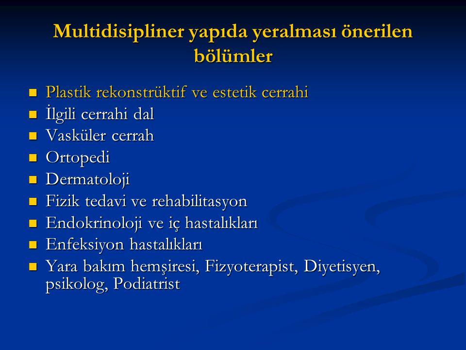 Multidisipliner yapıda yeralması önerilen bölümler