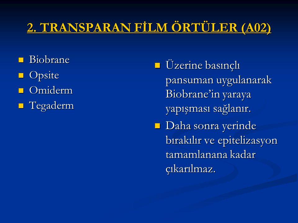 2. TRANSPARAN FİLM ÖRTÜLER (A02)