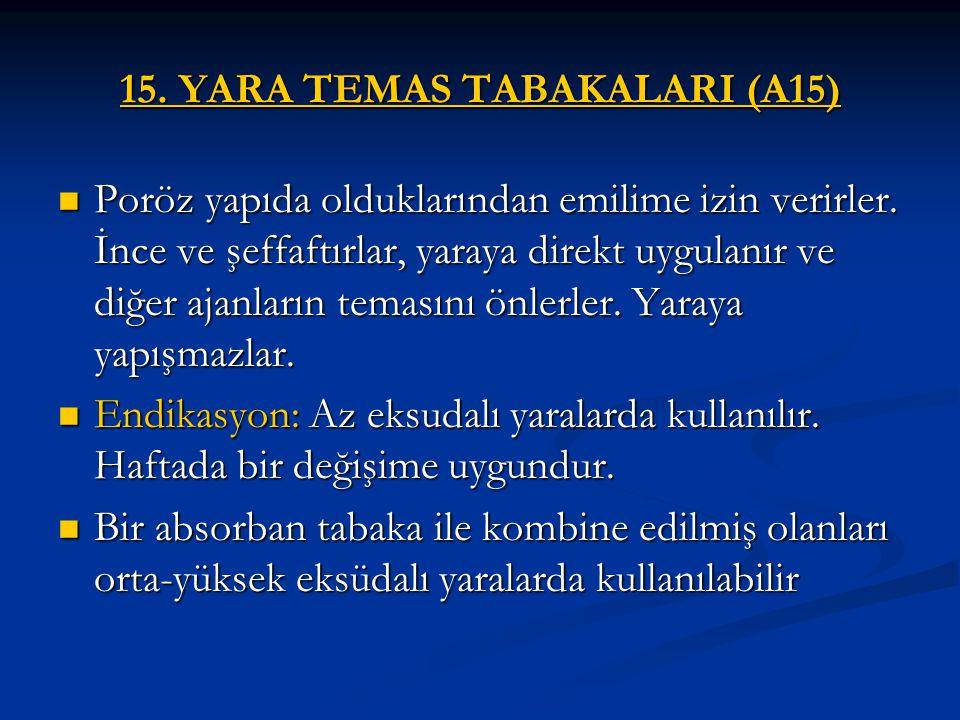 15. YARA TEMAS TABAKALARI (A15)
