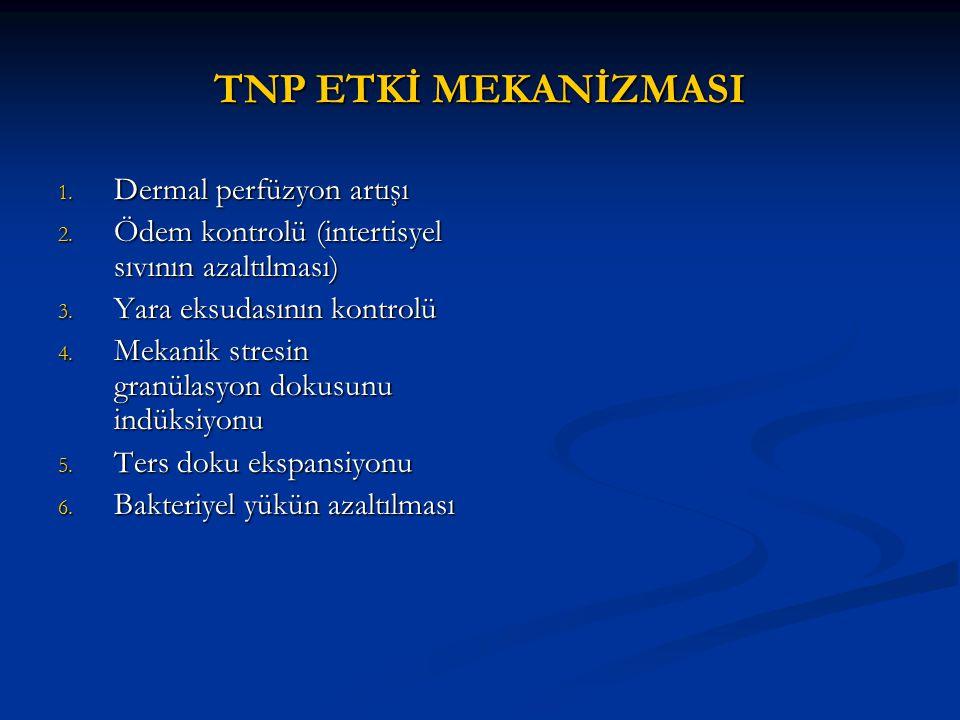 TNP ETKİ MEKANİZMASI Dermal perfüzyon artışı