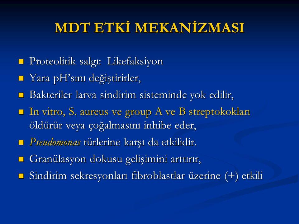 MDT ETKİ MEKANİZMASI Proteolitik salgı: Likefaksiyon