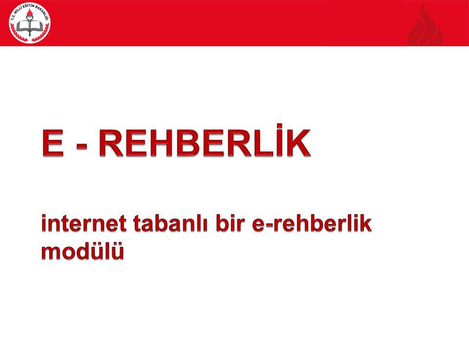 E - REHBERLİK internet tabanlı bir e-rehberlik modülü
