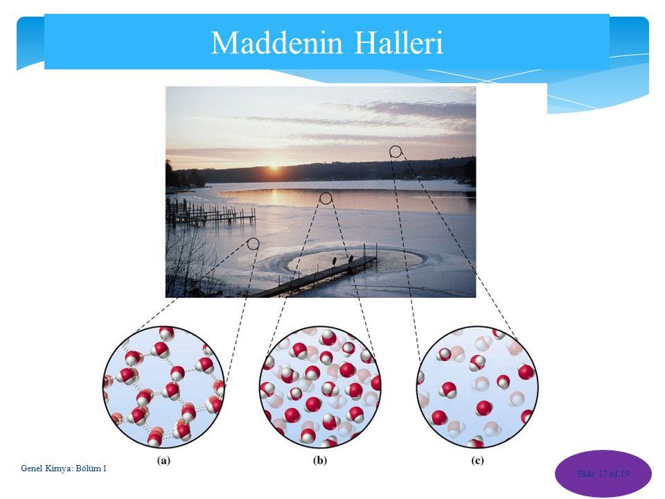 Maddenin Halleri Genel Kimya: Bölüm 1