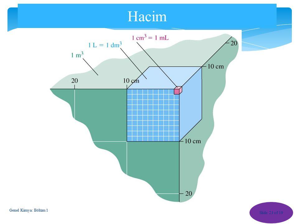 Hacim Genel Kimya: Bölüm 1
