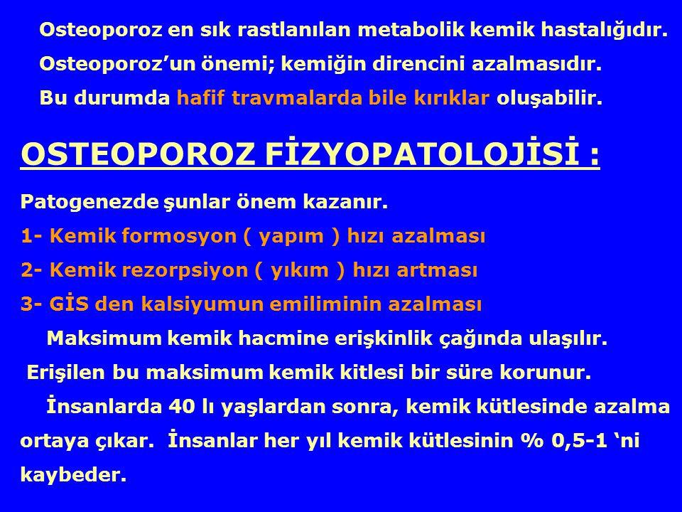 OSTEOPOROZ FİZYOPATOLOJİSİ :