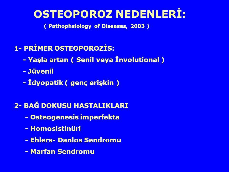 OSTEOPOROZ NEDENLERİ: