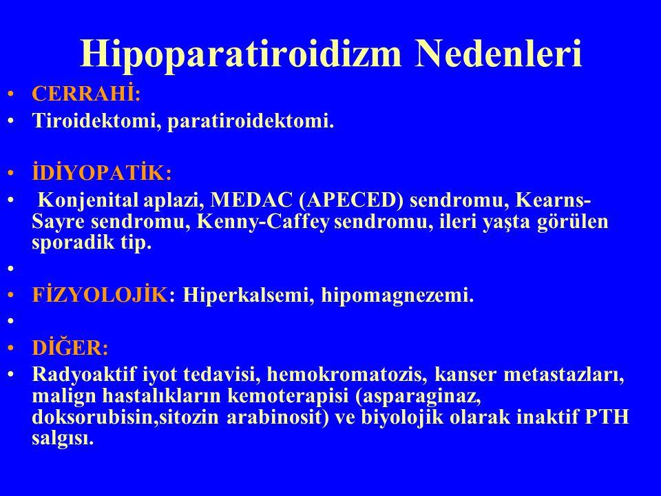 Hipoparatiroidizm Nedenleri