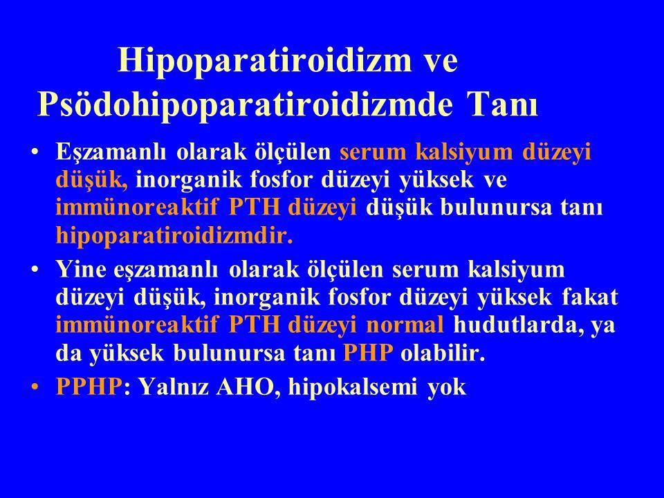 Hipoparatiroidizm ve Psödohipoparatiroidizmde Tanı