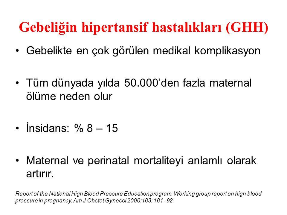 Gebeliğin hipertansif hastalıkları (GHH)