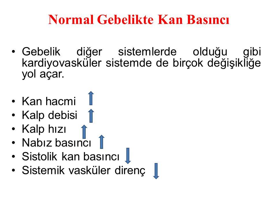 Normal Gebelikte Kan Basıncı