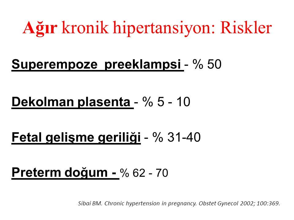 Ağır kronik hipertansiyon: Riskler