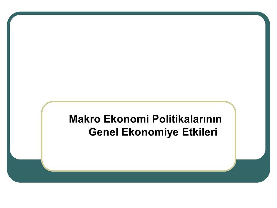 Makro Ekonomi Politikalarının Genel Ekonomiye Etkileri