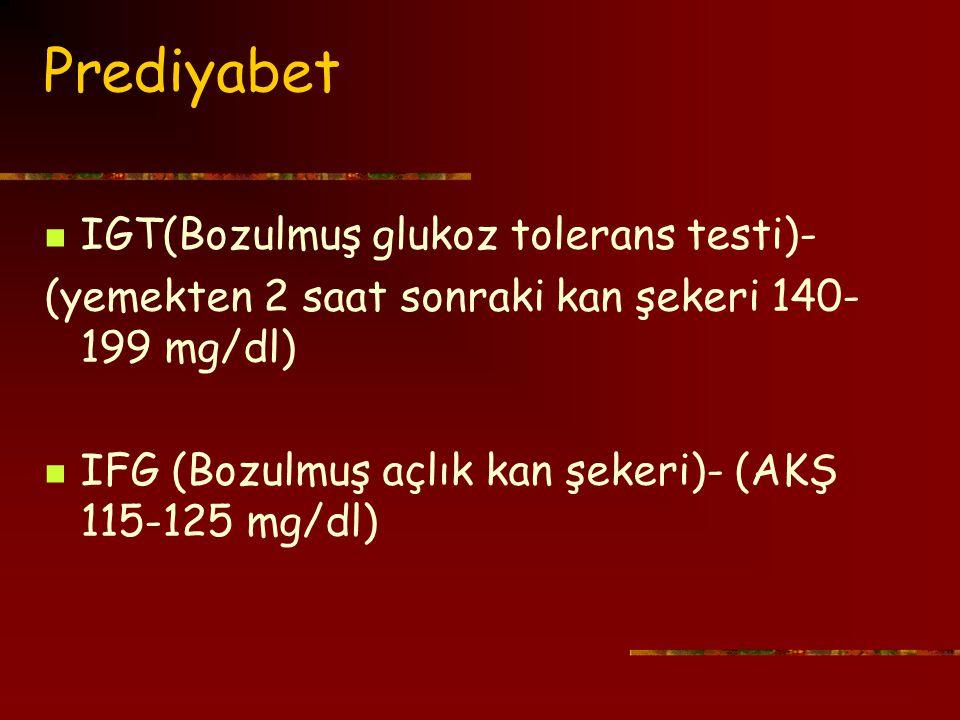 Prediyabet IGT(Bozulmuş glukoz tolerans testi)-