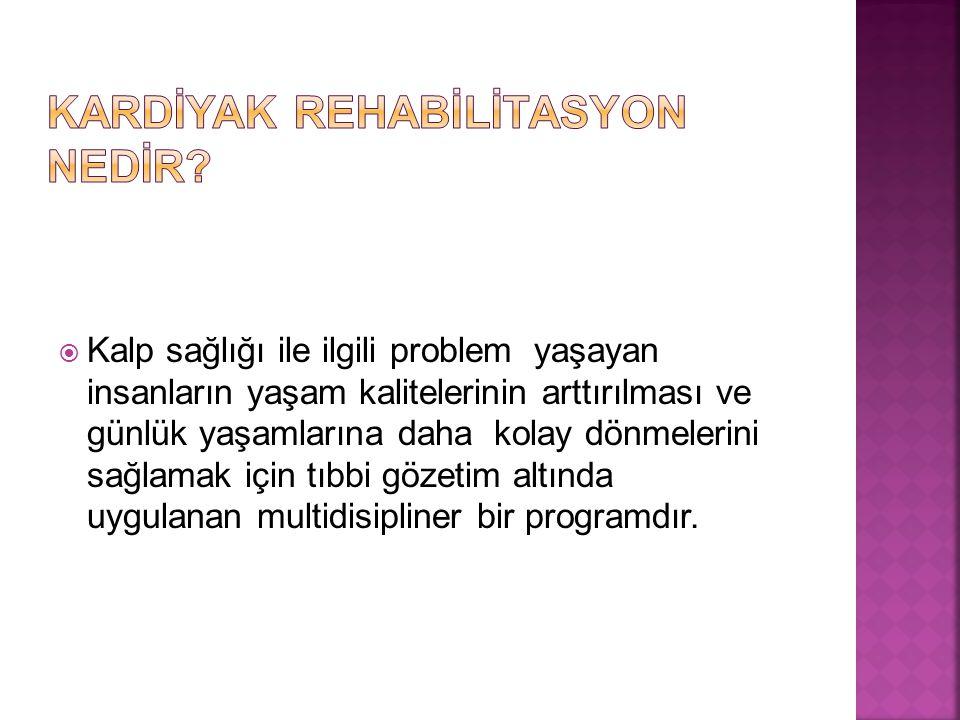 Kardİyak Rehabİlİtasyon Nedİr