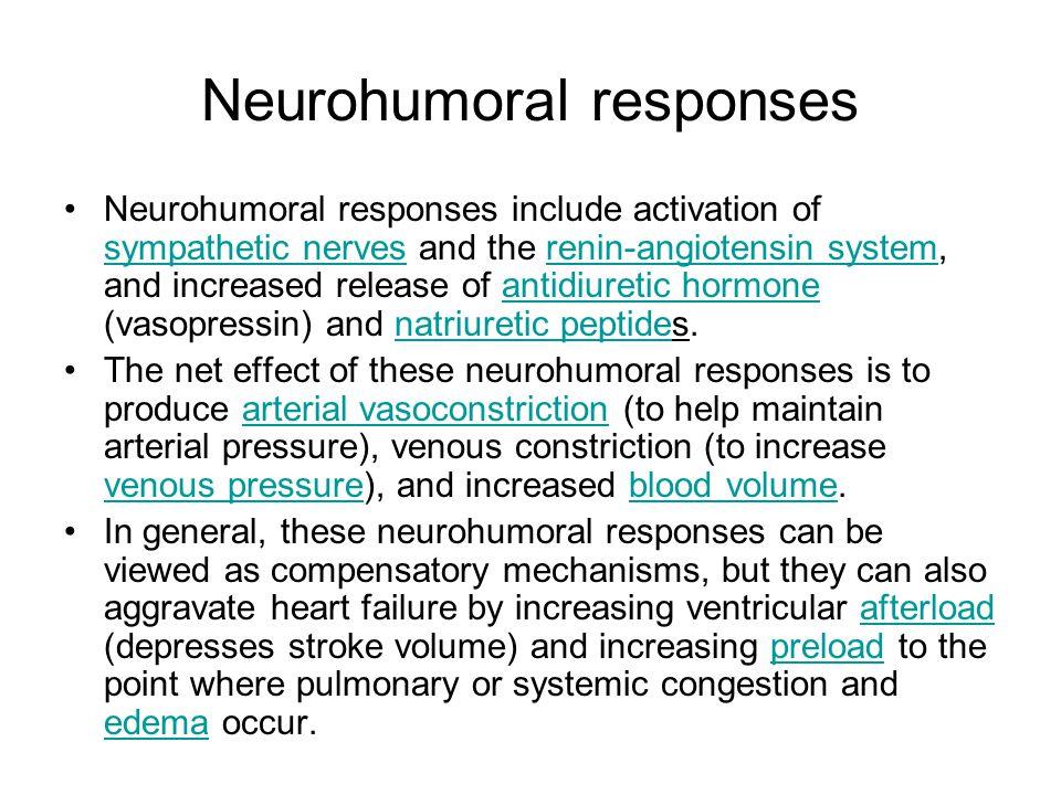 Neurohumoral responses