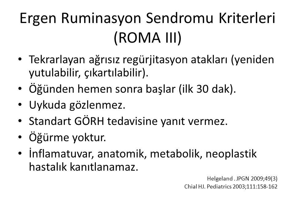 Ergen Ruminasyon Sendromu Kriterleri (ROMA III)