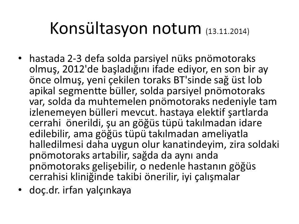 Konsültasyon notum (13.11.2014)