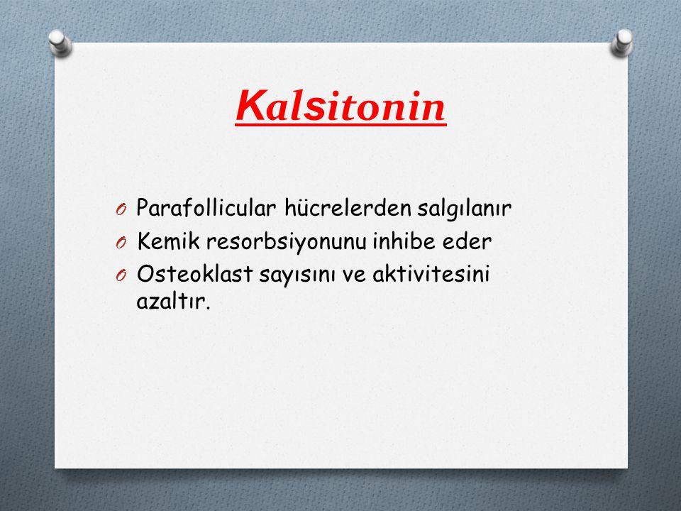 Kalsitonin Parafollicular hücrelerden salgılanır