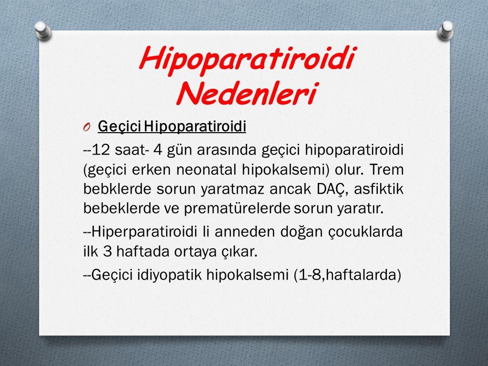 Hipoparatiroidi Nedenleri