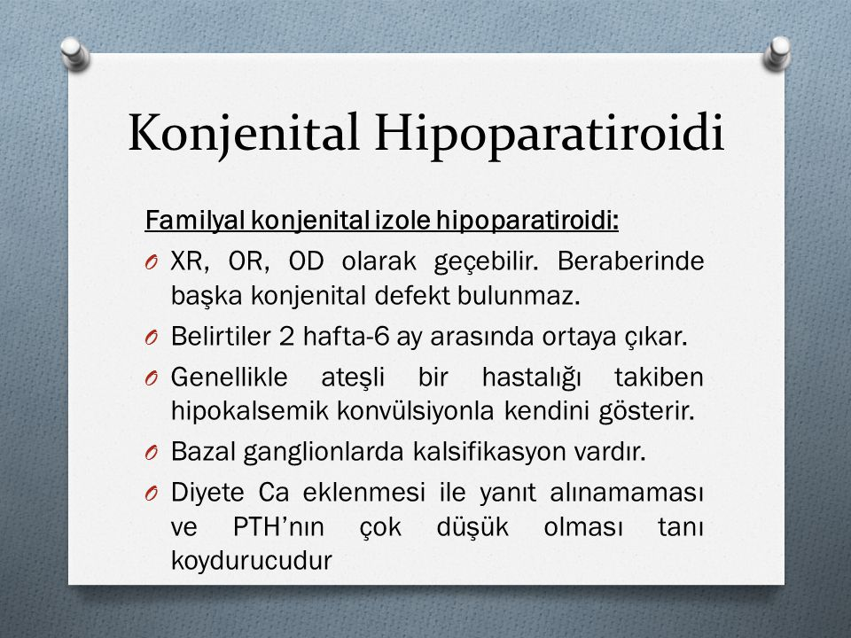 Konjenital Hipoparatiroidi