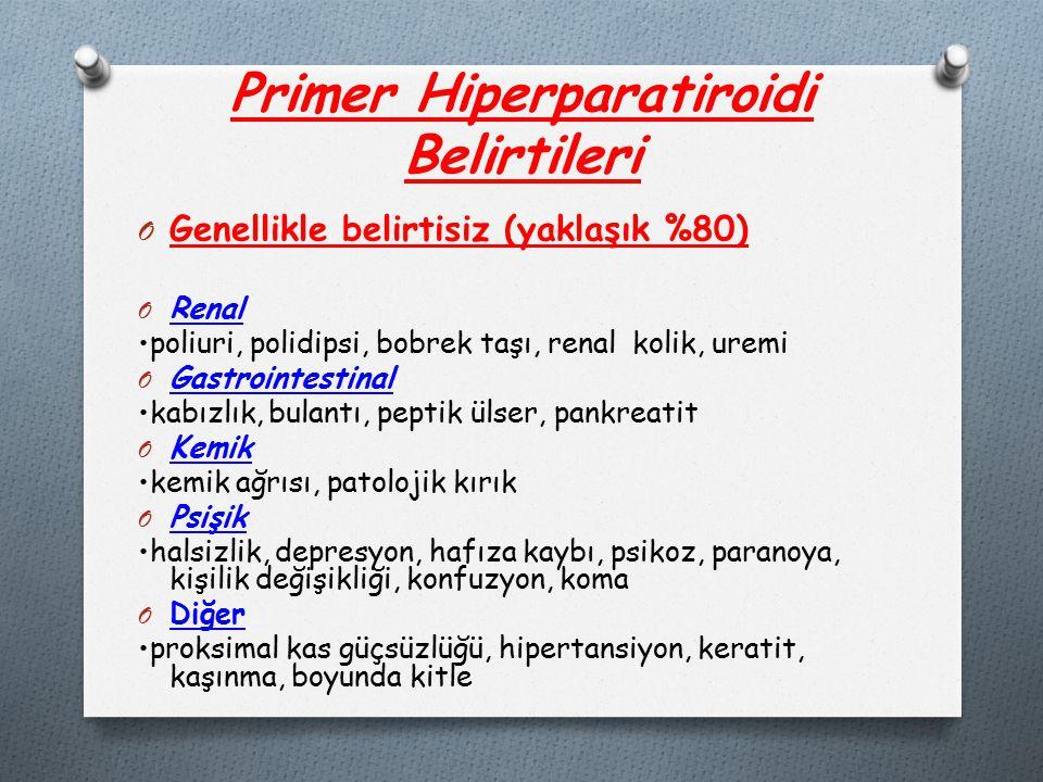 Primer Hiperparatiroidi Belirtileri