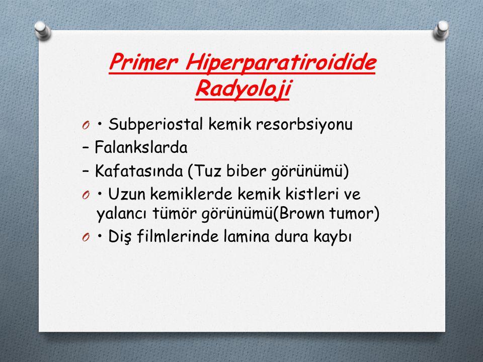 Primer Hiperparatiroidide Radyoloji