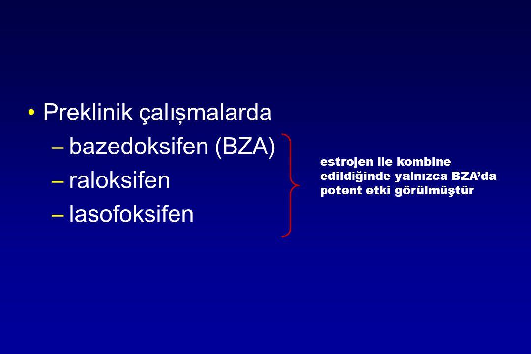 Preklinik çalışmalarda bazedoksifen (BZA) raloksifen lasofoksifen