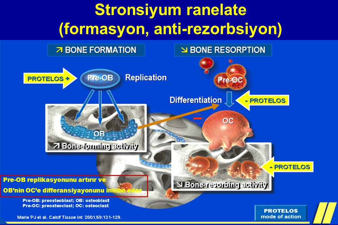 Stronsiyum ranelate (formasyon, anti-rezorbsiyon)