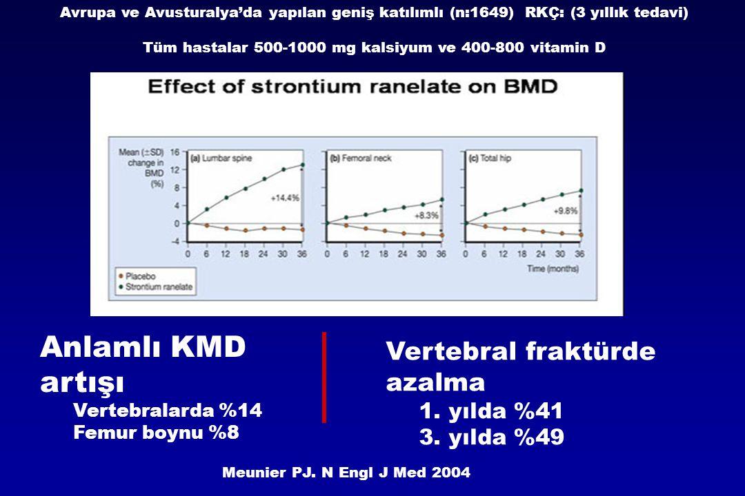 Tüm hastalar 500-1000 mg kalsiyum ve 400-800 vitamin D