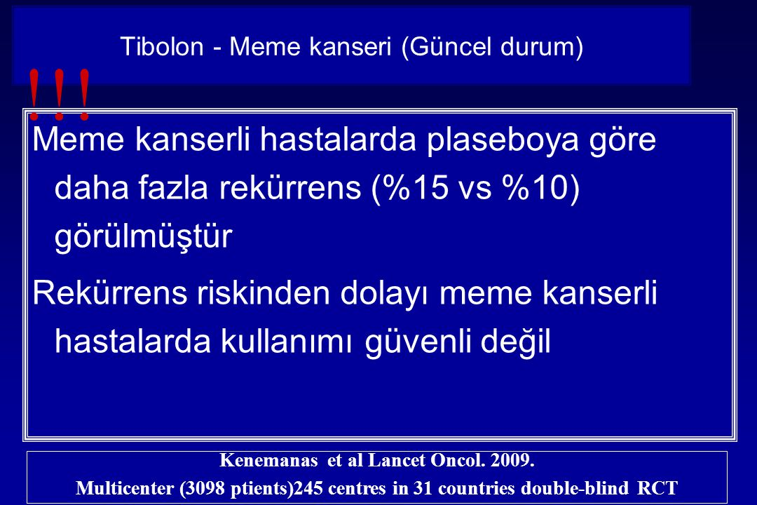 Tibolon - Meme kanseri (Güncel durum)