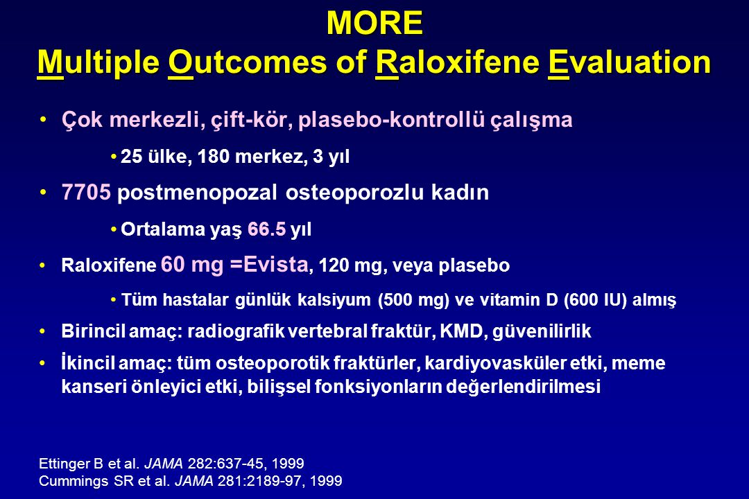 MORE Multiple Outcomes of Raloxifene Evaluation